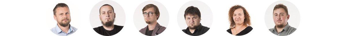 Grafika przedstawia zdjęcia osób zajmujących się usługą pozycjonowania w agencji MinisterstwoReklamy